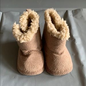 Just One You Brown Boots with Fur Size Newborn